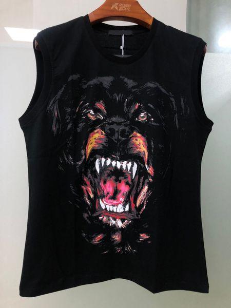 Designer de moda masculina de luxo t-shirt dos homens de manga curta 3 d hip-hop grande coleção de impressão de t-shirt do animal do cão vestido de designer de moda masculina