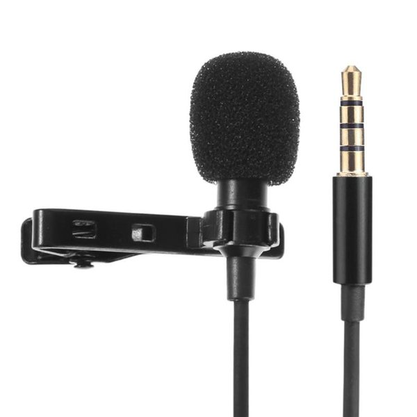 Wired Audio Sound Recording Condenser Microphone Metal Clip for Smart Phone