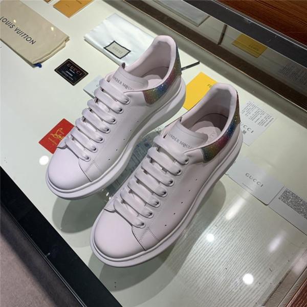 2019 новый Mens дизайнер обуви обуви Красивая платформа вскользь тапки люкс Дизайнеры Обувь Кожа Soliid цвета платье Размер обуви 35-45