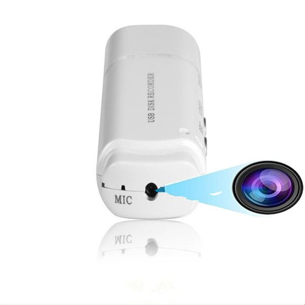 Hidden Video Professional Digital USB Flash Drive Voice Activated Recorder Mini Audio Sound Camera Voice Recorder Black & White