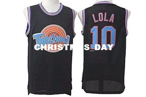Cheap custom #10 LoLa Bunny Space Jam Tune Squad Basketball Jersey black Stitched Customize any number name MEN WOMEN YOUTH XS-5XL