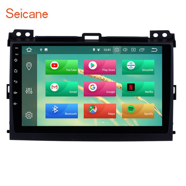 Android 8.0 Touchscreen GPS Navi Car Stereo for 2002-2009 Toyota Prado Cruiser with 3G WiFi Bluetooth Mirror Link support OBD2 car dvd