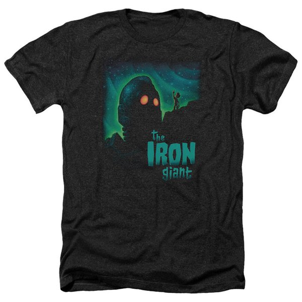 Iron Giant Movie GUARDA LE STELLE Licensed Adult Heather T-Shirt Tutte Le Taglie Uomo Donna Unisex Fashion tshirt Spedizione Gratuita
