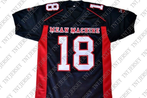 Custom CREWE # Mean Machine Longest Yard Football Jersey Black Stitched Custom any number name MEN WOMEN YOUTH Football JERSEY
