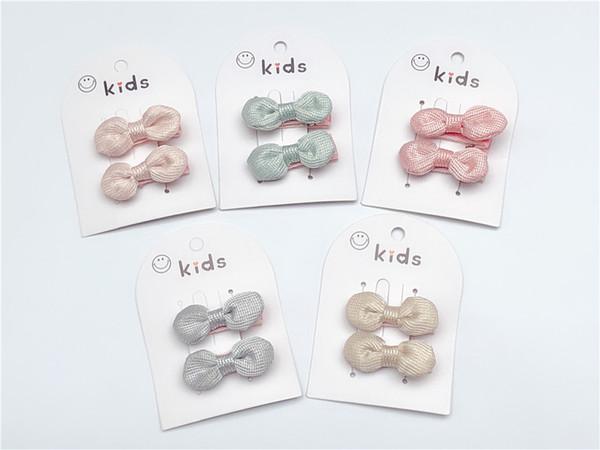 Boutique ins 20pairs Fashion Cute Glitter Bow Hairpins Solid Mini Bowknot Hair Clips Princesss Headwear Fairy Hair Accessories