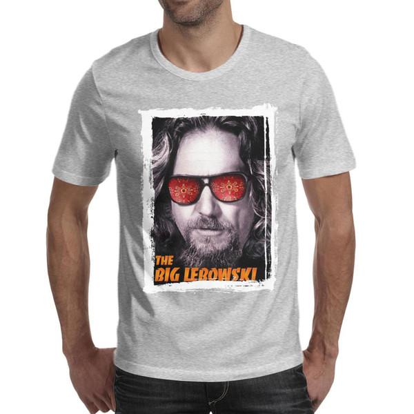 Men design printing The Big Lebowski grey t shirt printing funny cool superhero friends shirts hip hop t shirt creator neon movie colle