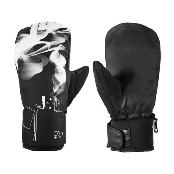 Guanti da sci antiscivolo caldi invernali addensati impermeabili antivento all'aperto per sport invernali snowboard guanti da sci guanti