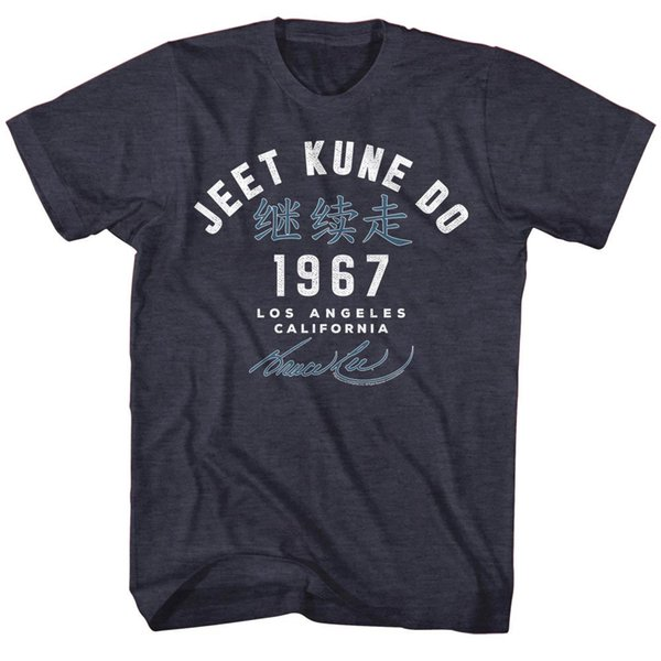 Bruce Lee Mens New T-Shirt Academy '67 in Navy Heather Sizes SM - 5XL Official Funny 100% Cotton T Shirt Harajuku Summer 2018 Tshirt