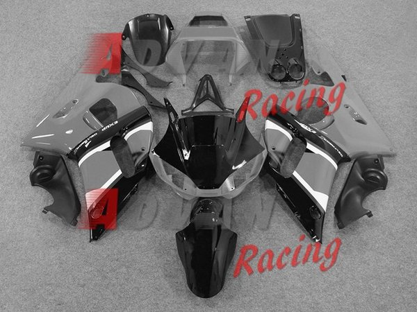 3Gifts Alta calidad Nuevos carenados de motocicleta ABS aptos para Yamaha YZF 600 R6 98 99 00 01 02 YZF-R6 1998-2002 kits de carenado personalizados negro gris