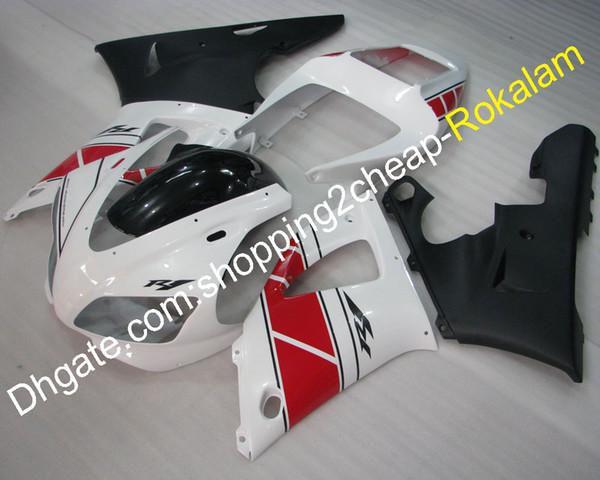 YZF1000 R1 ABS Carenado Ajuste para piezas de carenados Yamaha YZFR1 1998 1999 Race Motorcycle Red White Black Fairings Kit (moldeo por inyección)