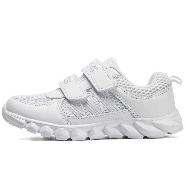Beyaz Erkek Kız Deri Sneakers Çocuk Okul Spor Eğitmenler Bebek Yürüyor Küçük Büyük Çocuk Rahat Paten Şık Tasarımcı Ayakkabı