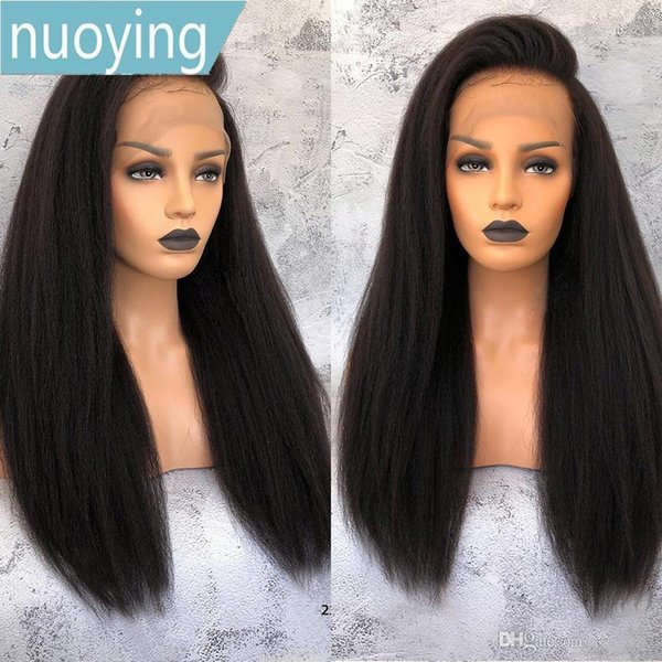 Long Straight Hair Lace Front Human Hair Wigs Pure Color Brazilian Remy Human Wig For Black Women Malaysia Wigs Baby Hair