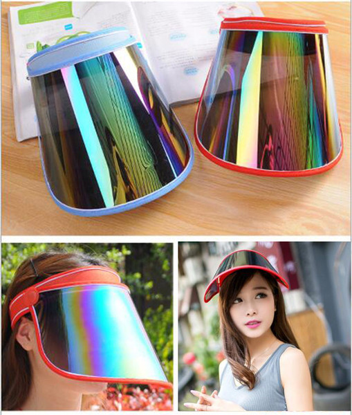 top popular Cap Wholesale Visors For Car Anti UV Light Cap PC Sun Hat Colorful Board To Ride Sun Visors YD0045 2020