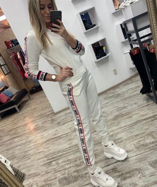 Chándales de diseñador de mujer Trajes de impresión de letras de marca de moda Pantalones de dos piezas Chándales de lujo de manga larga de lujo