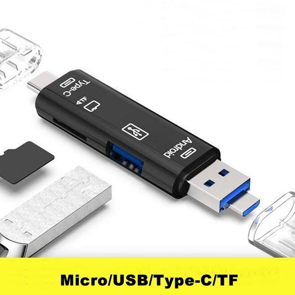 Tout en 1 Lecteur de carte USB 3.1 Lecteur de carte Micro SD haute vitesse SD TF Type C USB C Lecteur de carte mémoire Micro USB OTG