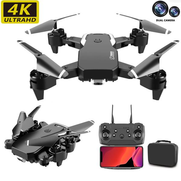 E6 듀얼 카메라 드론 4K 미니 접는 고정 높이 항공기 제스처 사진 네 축 공중 원격 제어 헬리콥터 장난감 드론