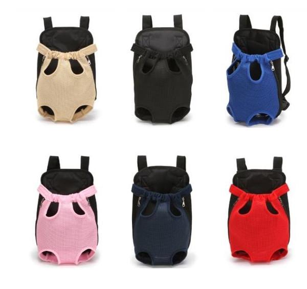 Pet Backpack Adjustable Shoulder Strap Dog Travel Bag Canvas Dog Bag Mesh Cloth Chest Pack Pet product accessories Portable DLH191