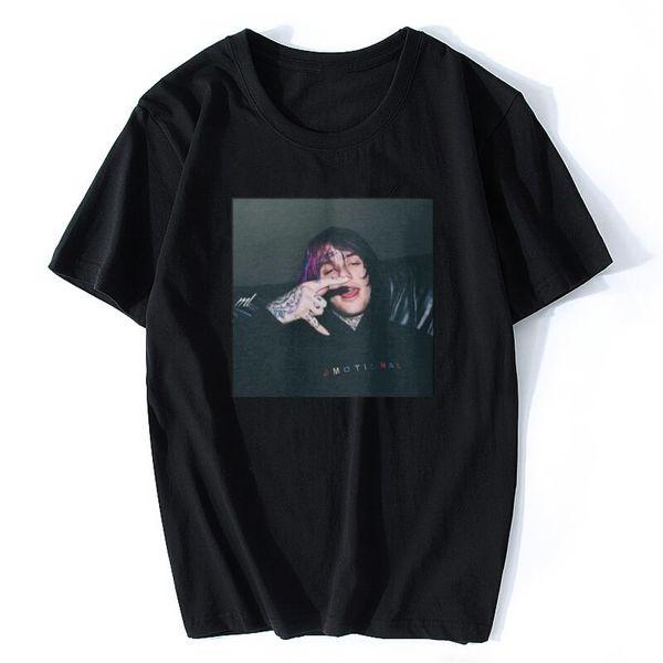 Camiseta LIL PEEP camiseta negra con estampado de viaje, camiseta Cool Xxxtentacion, camisetas de la marca, color de impresión Harajuku hombres camiseta MC146