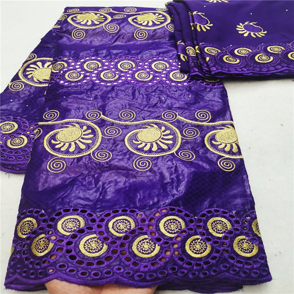 2019 New arrival african bazin riche getzner fabric with  cord lace fabric  guinea brocade for wedding HL081403