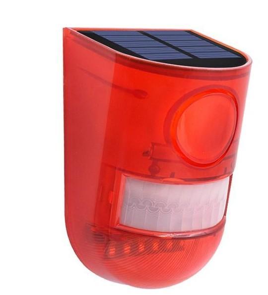 Solar Alarm Lampe 110db Warnton 6led Rotes Licht IP65 Wasserdicht Bewegungssensor Vorsicht Lichter Für Lager Geheimnis Ort Wand LLFA