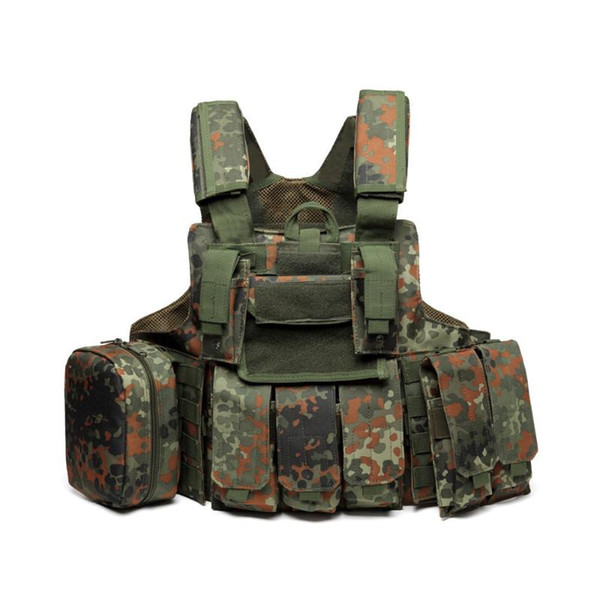 11 color army fans cs field camo gear tactical vest men women combat training camping outdoor hunting protect waistcoat thumbnail