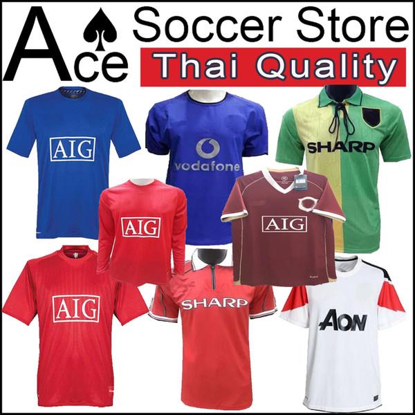 big sale fab3f ebab8 2019 Manchester 2006 2007 2008 United Retro UCL Final Match Manutd Home  Shorts Sleeves Jersey 1993 1994 1998 2011 2013 RONALDO 07 08 06 Shirt From  ...