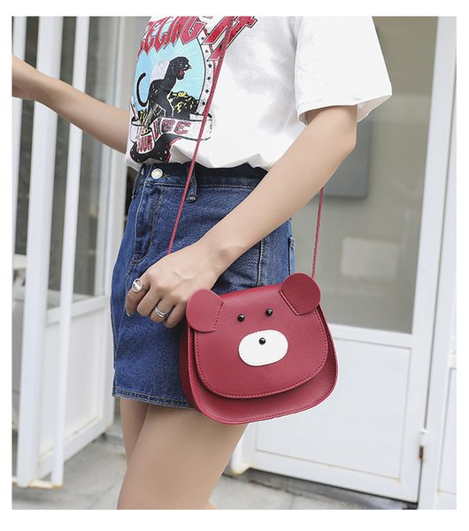 2019 New Design Lady's Small Square Bags Cartoon PU Fashion Bags with Four Colors Shoulder Bags
