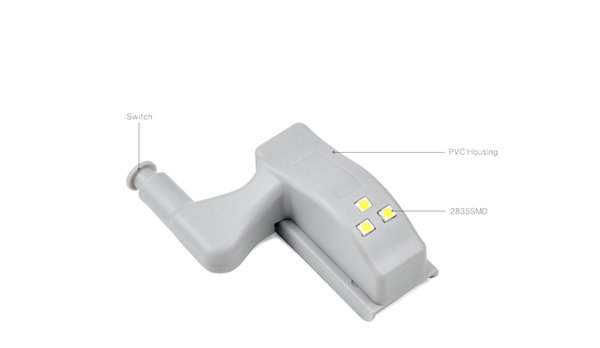 Cerniera a LED Armadio Guardaroba Lampada armadio Armadio Armadio Interruttore automatico ON / OFF Luce notturna Lampadina con 23A 12V baery