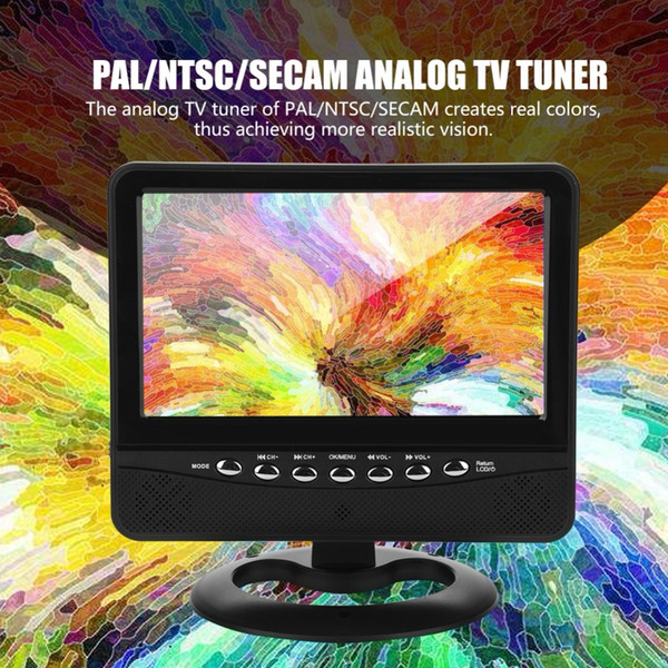 LCD 7in auto portatile TV analogica Televisione 20Hz-20KHz PAL / NTSC / SECAM HD auto TV Tuner FM Radio TXT Reader