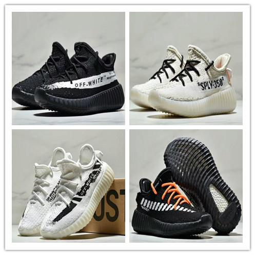 pretty nice 2406e f7c00 Adidas Yeezy Boost 350 V2 Static Kid Running Shoes Off White 350 V2 3M  Reflective Static Youth Shoes Size 26 35 Boys Running Shoes Sale Sport Kids  ...