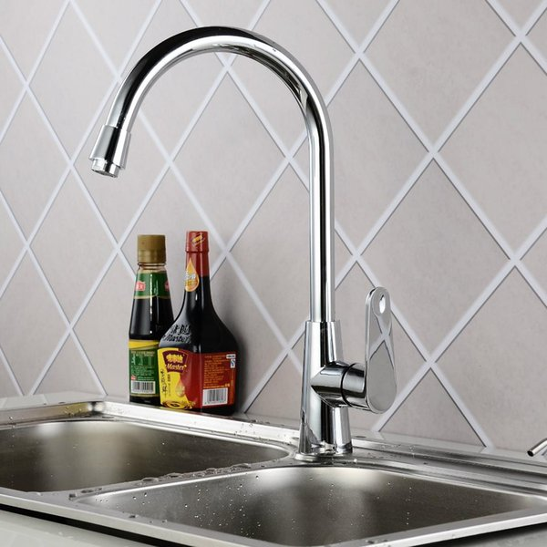 Faucet Qiaojiang Goddess Set of Copper Hot and Cold Kitchen Dish Mixing Water Sink Faucet Factory Direct Wholesale