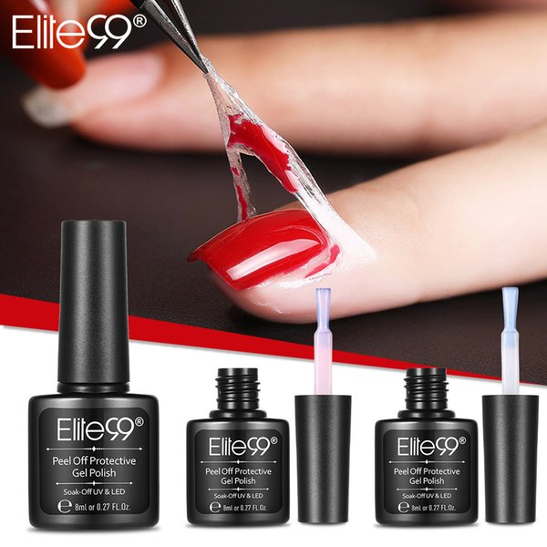 Elite99 Peel Off Protettivo Nail Polish Manicure Protetto Easy Clean Fast Finger Skin Liquid Gel Gel Nail Care Tool Pinzette