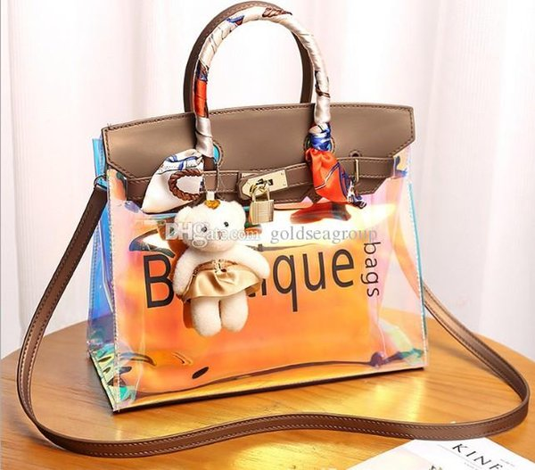 shoulder bag tote arrive cheetah laser wholesale 2019 original handbag purse female Environmental protect PVC beach outdoor bags ES USA EUR