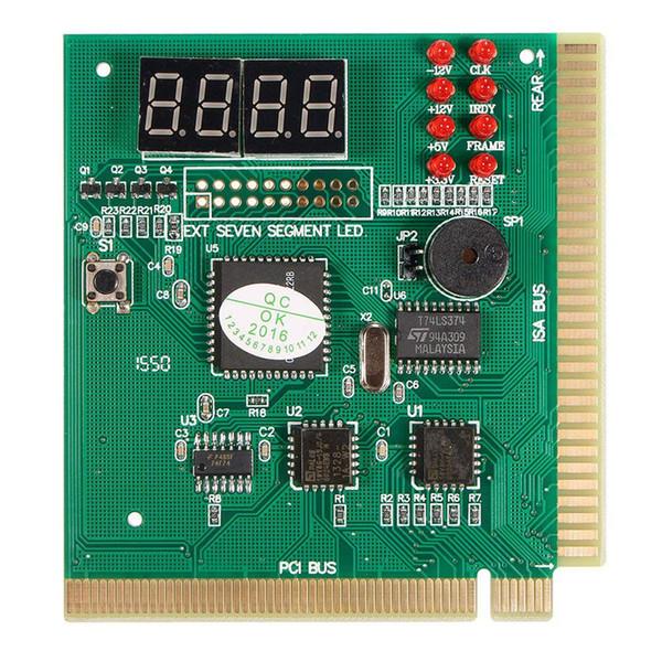4 Haneli PCI Kartpostal LCD Ekran PC Analyzer Teşhis Kartı Anakart Test Bilgisayar Analiz Ağ Araçları
