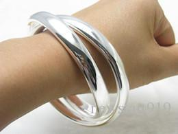 Babyonline Hot sales High quality fashion trend 925 silver charm Beautiful 2 big ring Ms. bracelet jewelry Holiday gifts Free shipping B150
