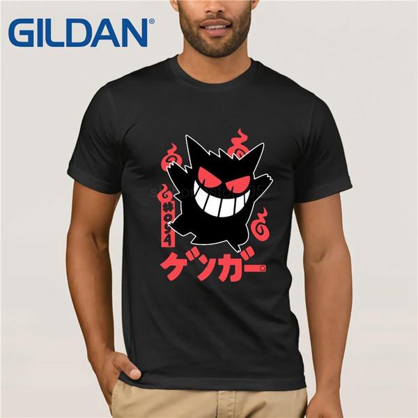 Camisa de T Casual Flevans Marca T Shirt Homens 2019 Moda Gengar Mens Engraçado Dos Desenhos Animados Camisetas de Manga Curta Legal Tops