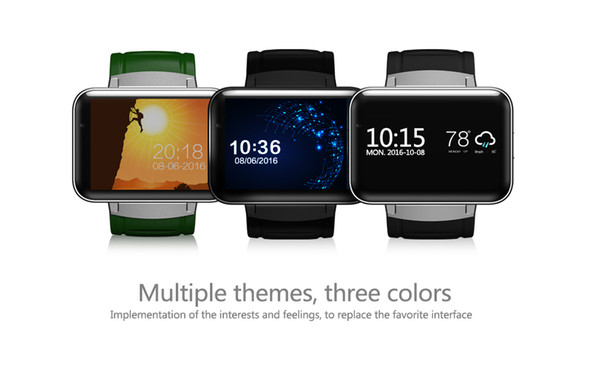DM98 Smart watch MTK6572 Dual core 2.2 inch touch screen 900mAh Battery 512MB Ram 4GB Rom Android 4.4 OS 3G GPS WIFI