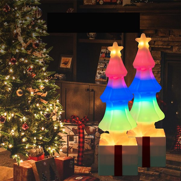 Figura dell'albero di Natale E27 / E26 USB lampadina LED 85-265V RGB luci colorate 3W fata Garden Party coperta decorazione luci LED