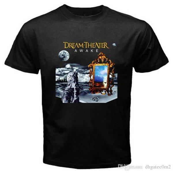 Print T Shirt Short Short Sleeve Print Dream Theater Crew Neck Mens Tee
