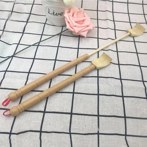 Scratcher posteriore telescopico in bambù Massaggiatore per il corpo in legno a portata di mano Estensibile flessibile posteriore Prolunga per prolunga anti-prurito LLA372