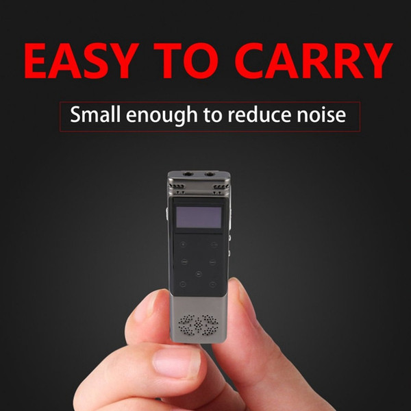 top popular Professional mini 8GB digital voice recorder USB Rechargeable LCD Touch 3D Screen Noise Reduction Digital Voice Recorder Stereo Recording 2020