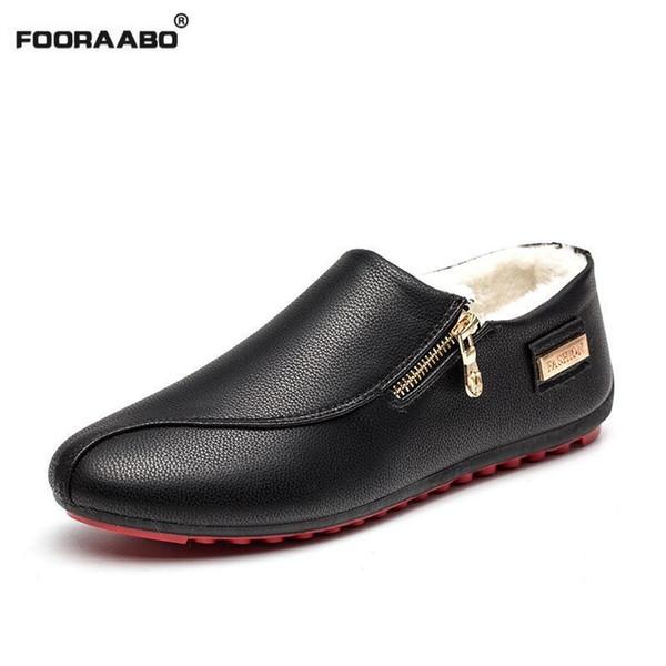36c10f91 2018 hombres casuales mocasines de cuero naturales zapatos de conducción de  cuero de la pu calzado
