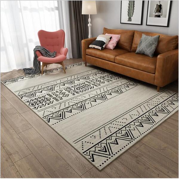 Nordic Rug Living Room Modern Minimalist Bedroom Sofa Bed Mat Moroccan  Style Living Room Carpet Area Rugs Floor Mat Soft Carpet Carpet Services  Car ...