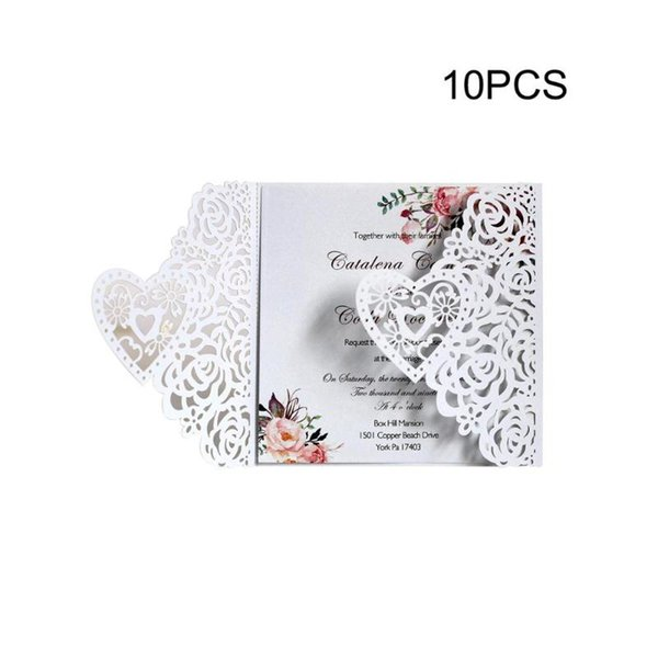 Laser Hollow Rose Flower Pattern Three Dimensional Love Tri Fold