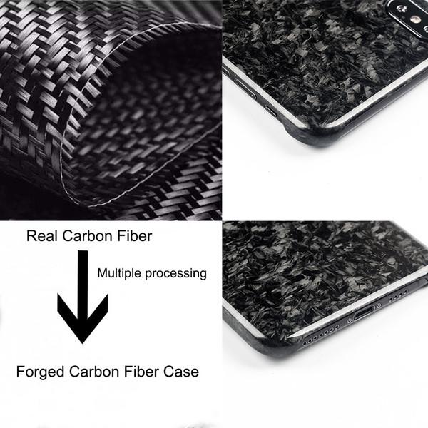 Novo composto forjado fibra de carbono real caso do telefone móvel para iphone xs max capa de proteção integral para iphone x xs xr case