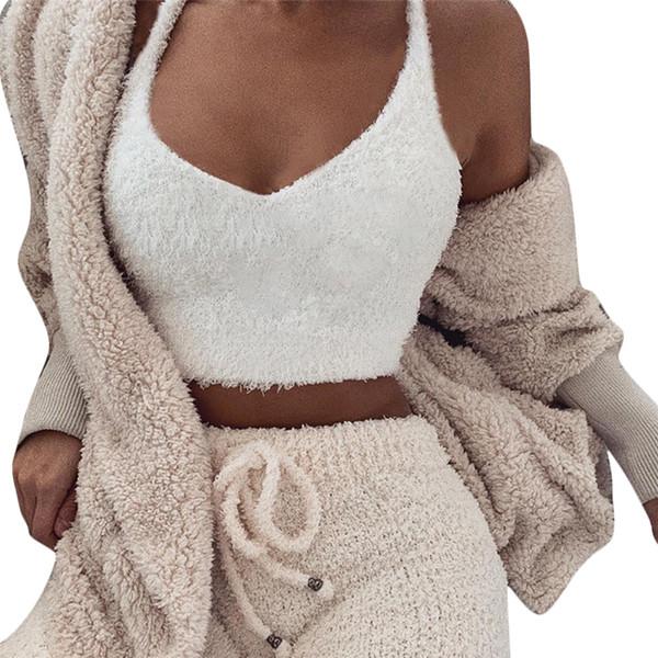 рубашка хлопок теплый плюс бархатный топ с V-образным вырезом без рукавов короткий жилет сексуальные твердые майки