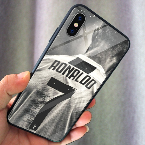 Messi Ronaldo Super star Football Number 11 7 iphone case for iphone X XS XR XSMAX 6plus 7plus 8plus
