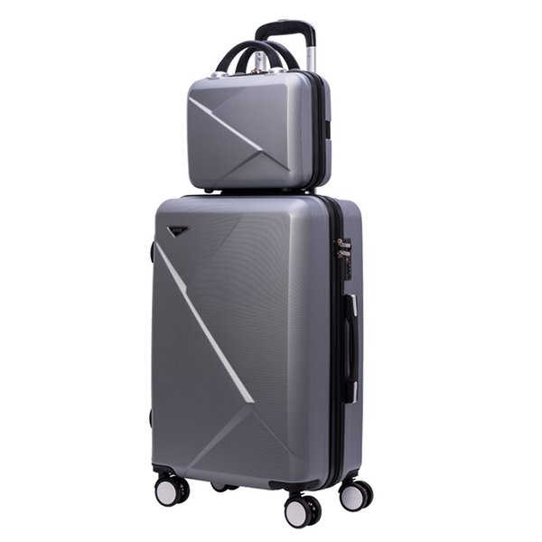 Дорожный чемодан с колесиком Rolling Luggage Spinner, футляр для тележек Woman Cosmetic case для ручной клади, дорожная сумка для багажа