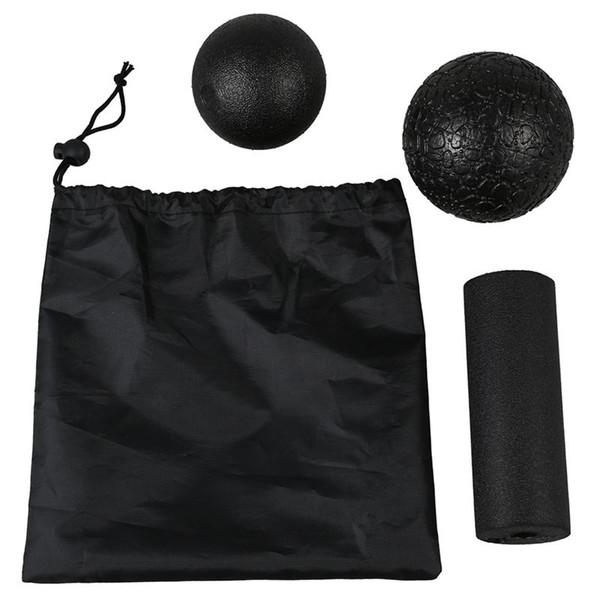 Conjunto de massagem de ioga - Produkte fur die Faszien in verschiedenen 1 Bola de lacrosse + 1Fascia ball + 1Yoga column