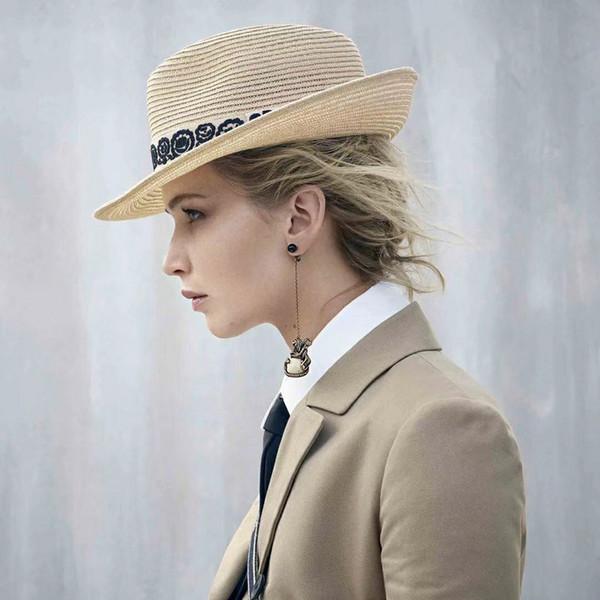retro animal design femmes longues boucles d'oreilles en céramique tête de cheval de luxe chute enfile-aiguille boucles d'oreille goujons ins chaude femme bijoux de fête